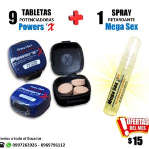 Combo Powers Megasex Retardante Potenciador