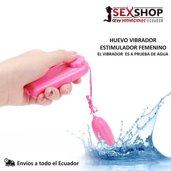 Huevo Vibrador Estimulador Femenino - a prueba de agua