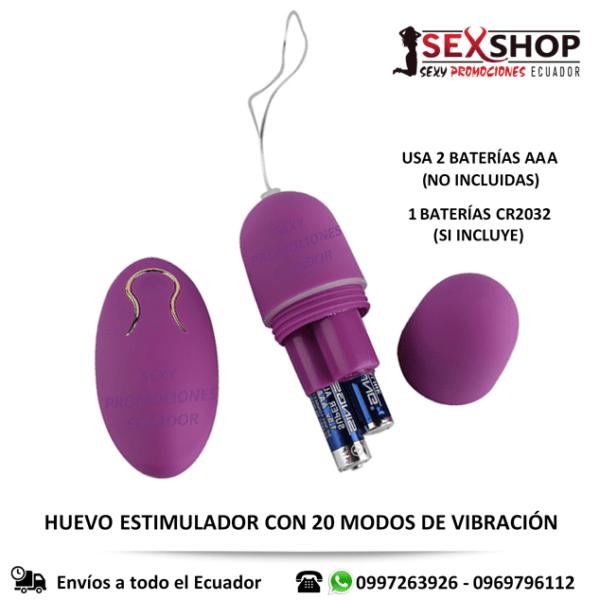 Huevo Vibrador Inalambrico Estimulador Femenino - uso de baterias