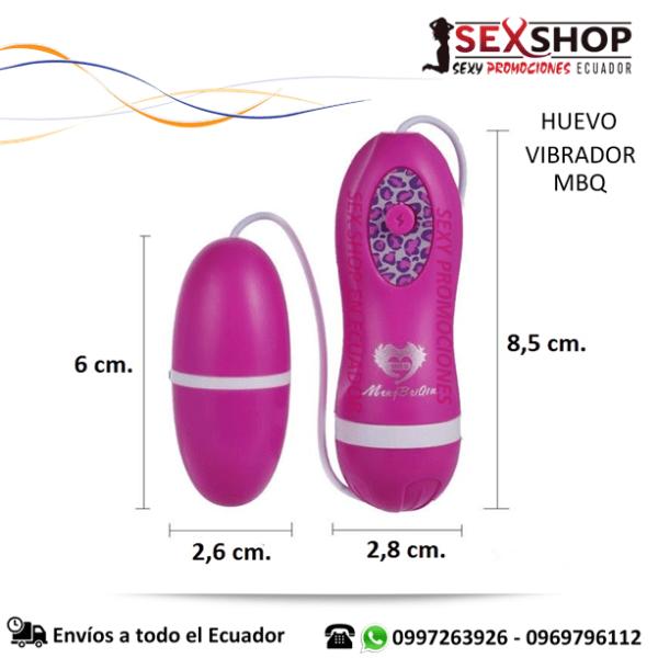 Huevo Vibrador MBQ EStimulador Femenino - medidas
